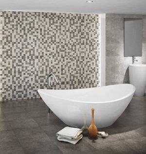 Revestimiento de piedra gres para el baño