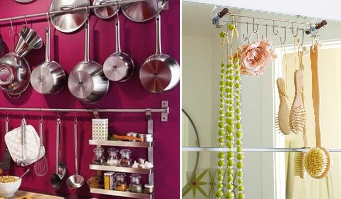 9 ideas tiles para usar ganchos en el hogar for Cocinas profesionales para el hogar