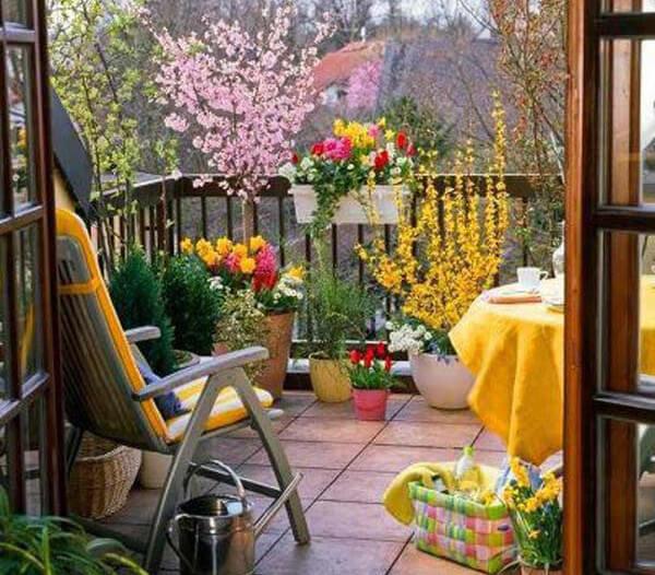 Decorar una terraza pequeña