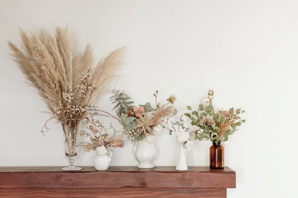 8 grandes ideas para decorar tu hogar - Decorar con flores secas ...