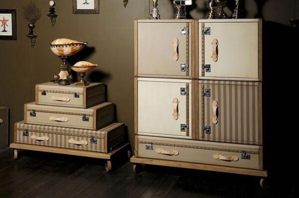 reciclaje de valijas para hacer muebles vintage