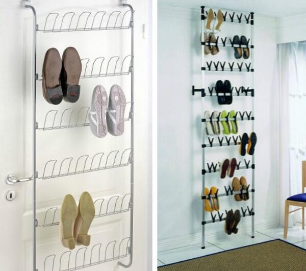 8 ideas para organizar el calzado for Ganchos para colgar botas