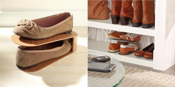 8 ideas para organizar el calzado. Black Bedroom Furniture Sets. Home Design Ideas