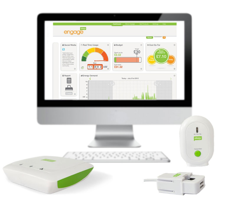 Medidor de consumo electrico Engage Hub kit de Efergy