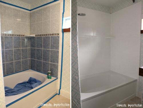 5 ideas para pintar los azulejos del ba o y la cocina - Pinturas para azulejos de bano ...