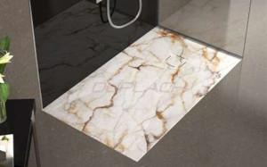 Plato de ducha de marmol