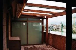 Cerramiento terraza de madera
