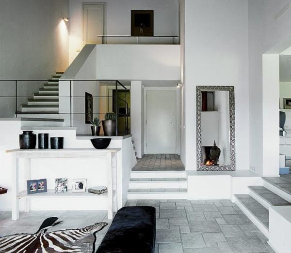 Decorar con blanco y gris - Decoracion salon gris y blanco ...